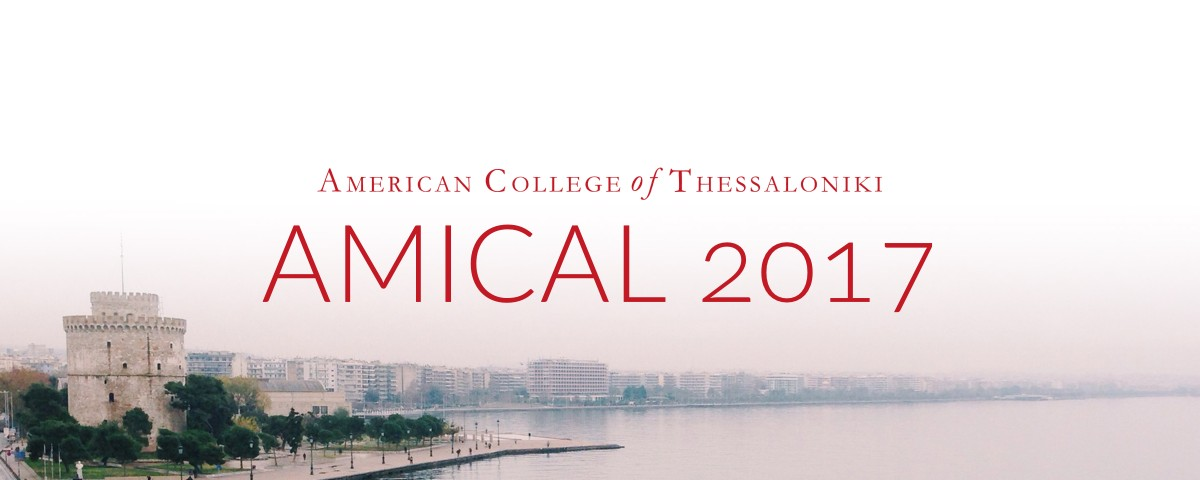 AMICAL 2017, at the American College of Thessaloniki of Thessaloniki