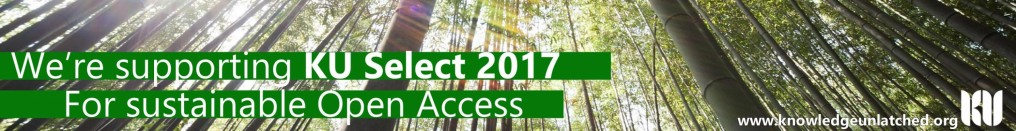 We're supporting KU Select 2017 for sustainable open access.